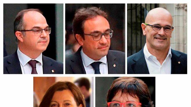 Turull, Rull, Romeva, Forcadell y Bassa.