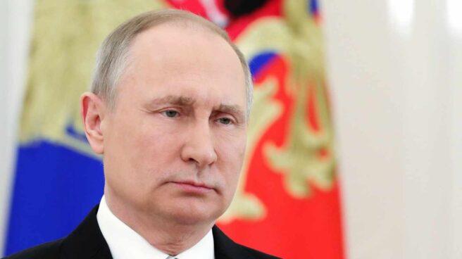 El líder ruso, Vladimir Putin, antes de dar un discurso a la nación.
