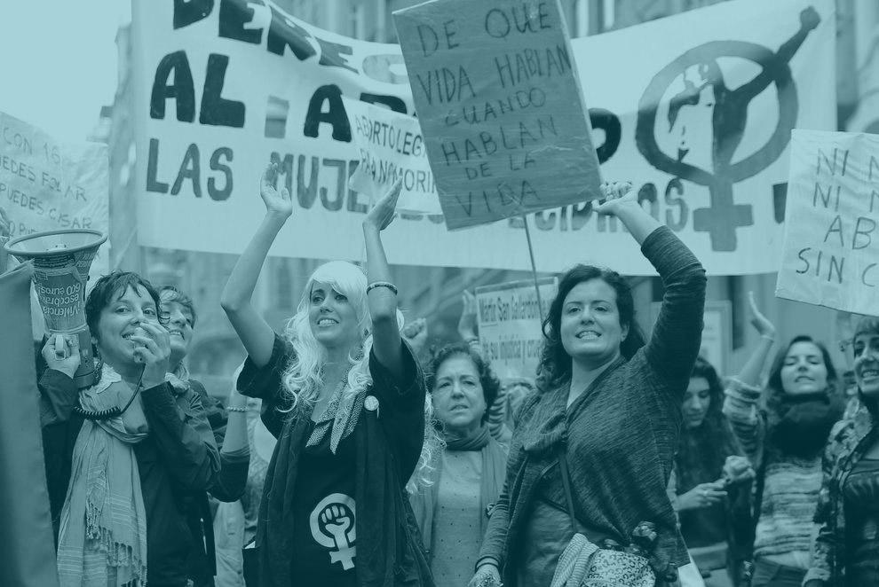 Imagen de los actos preparatorio de la huelga feminista 8-M