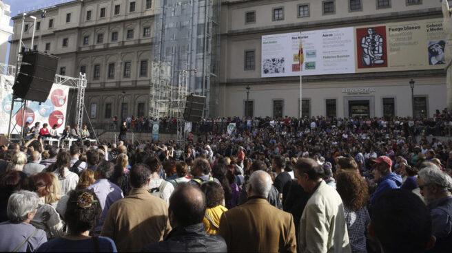 Acto de Ahora Madrid en la campaña electoral de mayo de 2015.