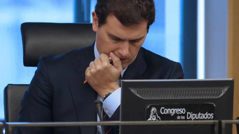 Albert Rivera, este martes en el Congreso de los Diputados.