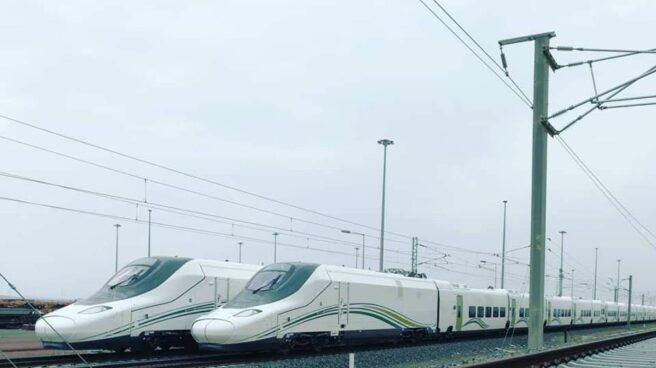 Imagen exclusiva de los trenes Talgo en el desierto de Arabia Saudí.