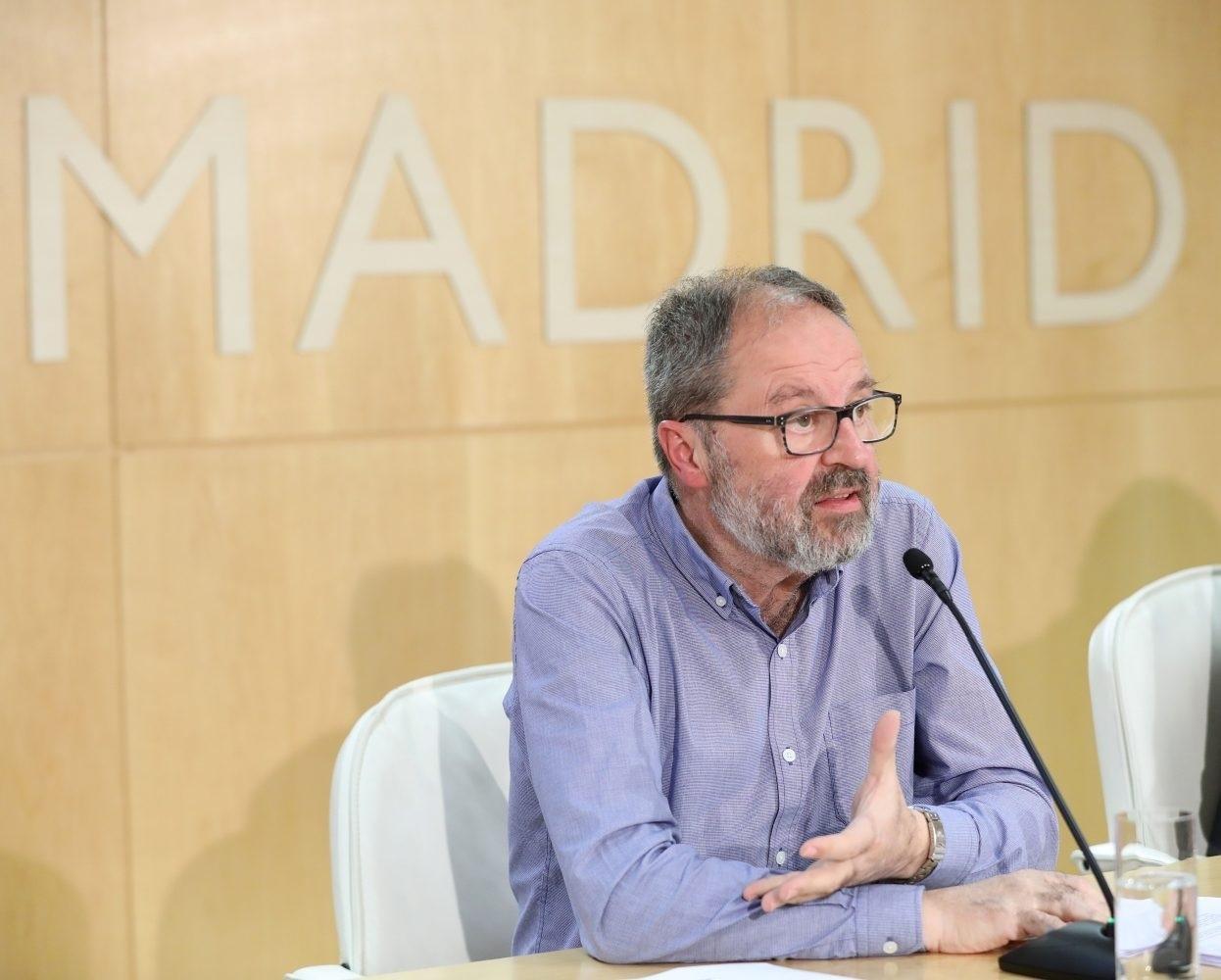 José Javier Barbero, delegado de Seguridad del Ayuntamiento de Madrid, durante la rueda de prensa ofrecida el pasado viernes.