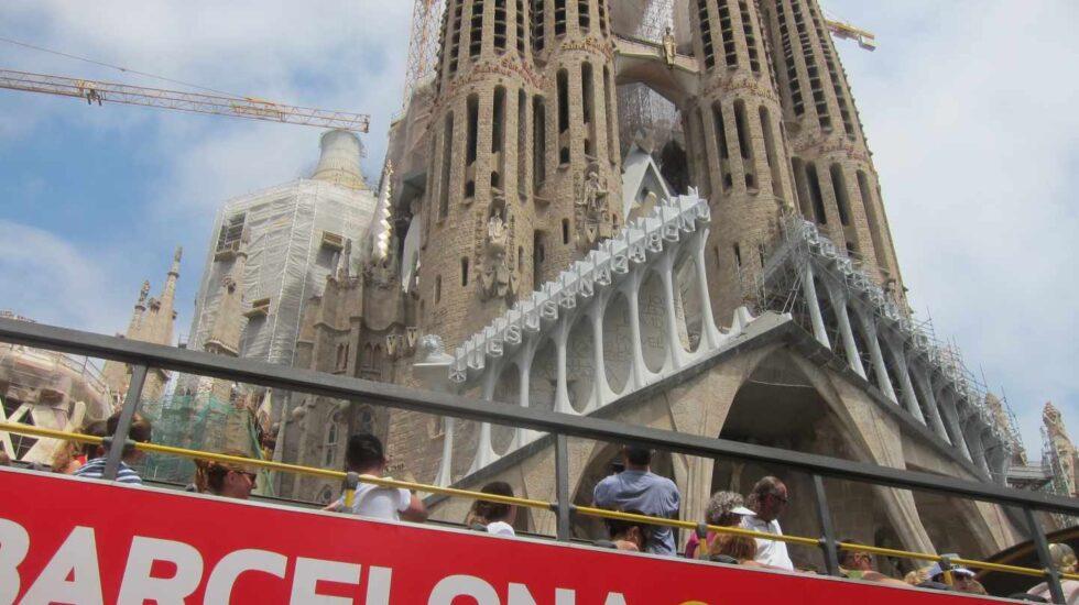 Turistas de visita en Barcelona.