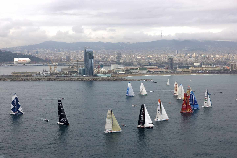 Una regata de la Barcelona World Race.
