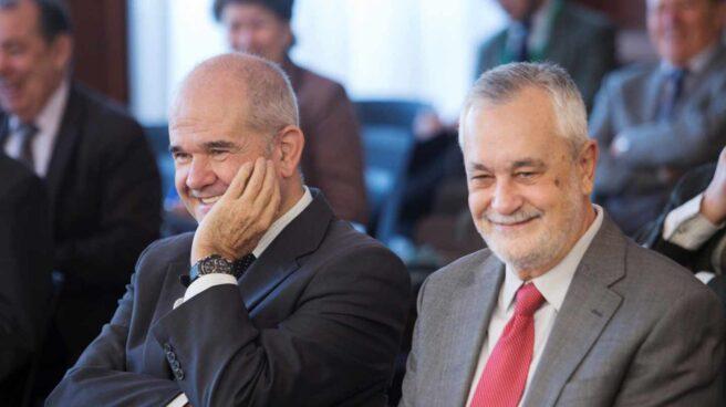 Manuel Chaves y José Antonio Griñán, durante el juicio del Caso ERE.