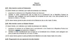 Artículos del Código Penal alemán que afectan al futuro judicial de Carles Puigdemont.