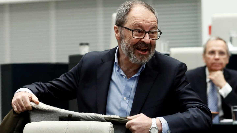 El concejal de Seguridad de Ahora Madrid, Javier Barbero, durante el Pleno del Ayuntamiento de Madrid.