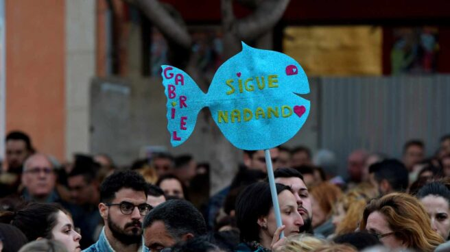 Concentración en apoyo a la familia de Gabriel, el niño asesinado en Almería.