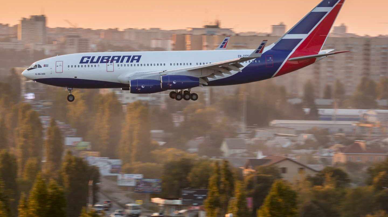 Un avión de la aerolínea Cubana de Aviación.