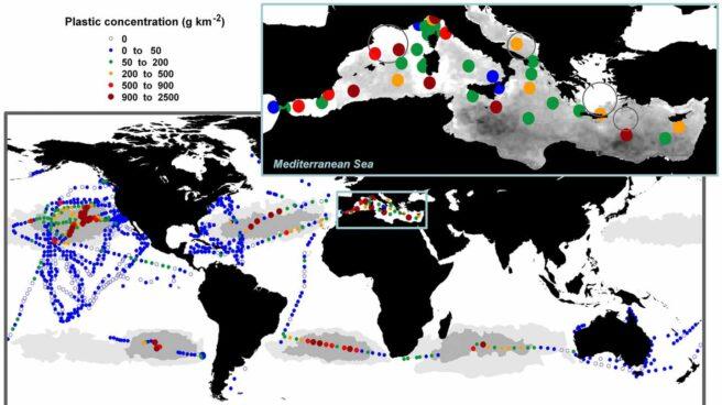 Detección de plásticos por satélite.