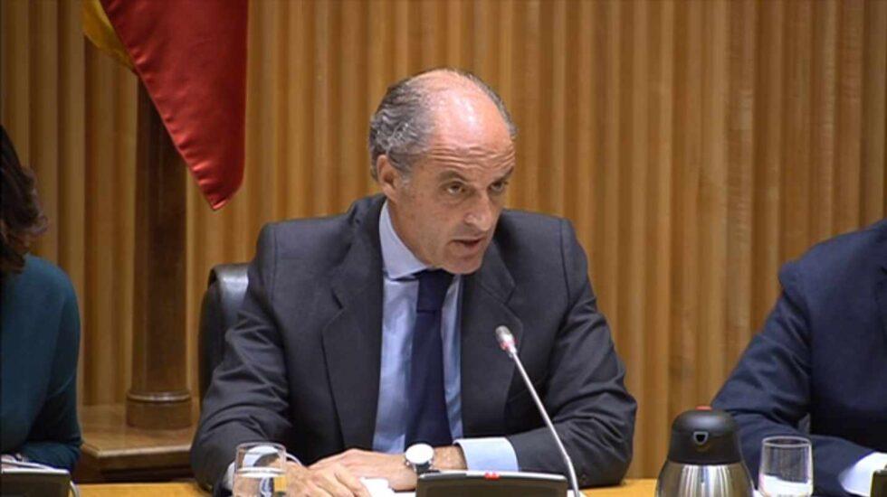 Francisco Camps, en su declaración en la comisión de investigación sobre la financiación del PP del Congreso.