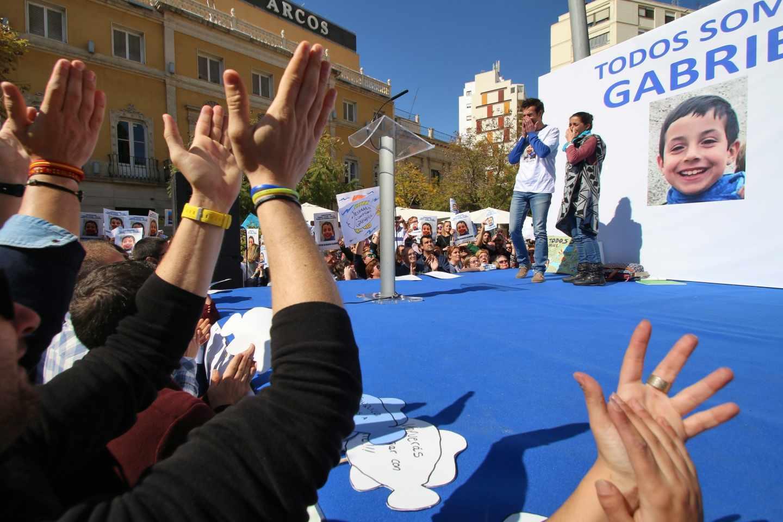 Concentración ciudadana en Almería mientras se buscaba al pequeño Gabriel Cruz.