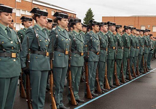 Guardias Civiles formados, en el complejo de Valdemoro (Madrid).