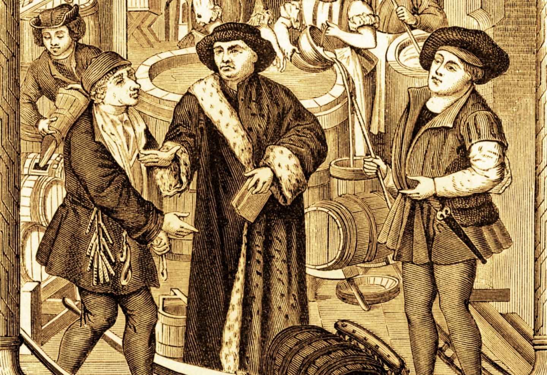 Obispo de Tournai bebiendo cerveza en el siglo XV
