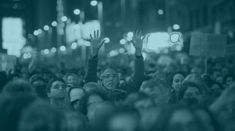 Imagen de la huelga feminista que tuvo lugar en Madrid.