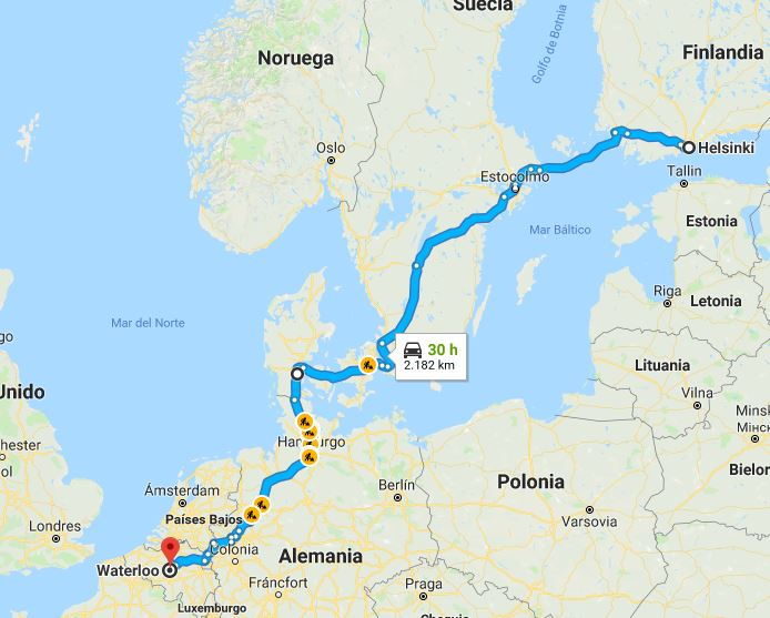 El viaje de Puigdemont, de Helsinki hasta Waterloo.