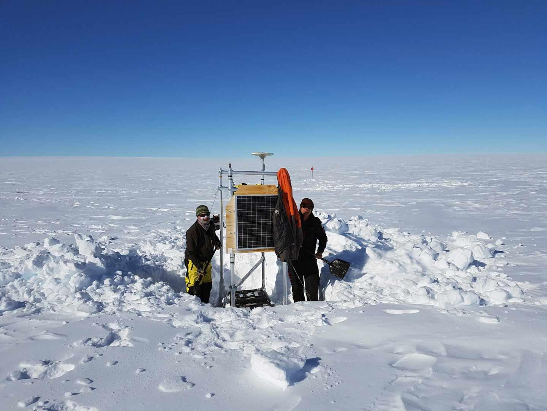 Investigación en el glaciar Totten.