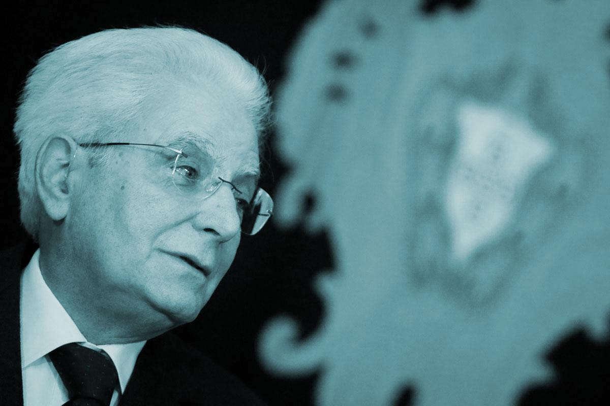 Sergio Mattarella, el Presidente de la República italiana.