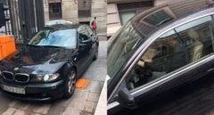 El diputado de Podemos que declara no tener coche entra al Congreso en un BMW