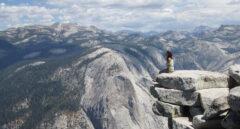 La viajera Julia Del Olmo en el Parque Yosemite