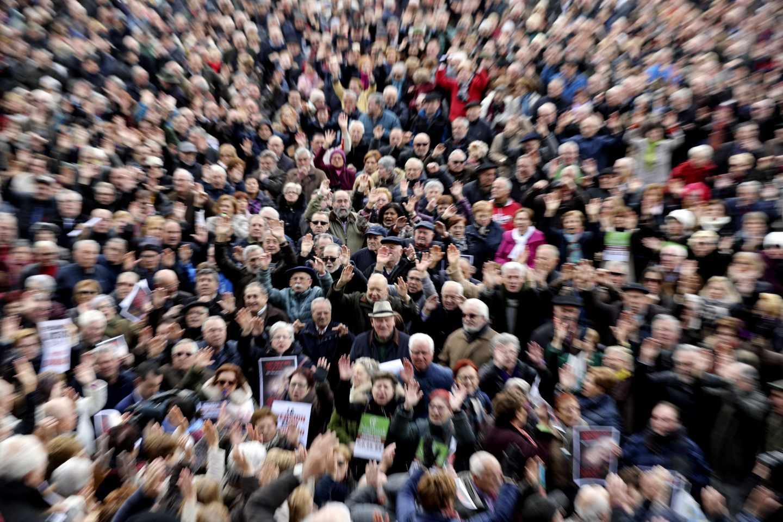 Movilizaciones en defensa del sistema público de pensiones.