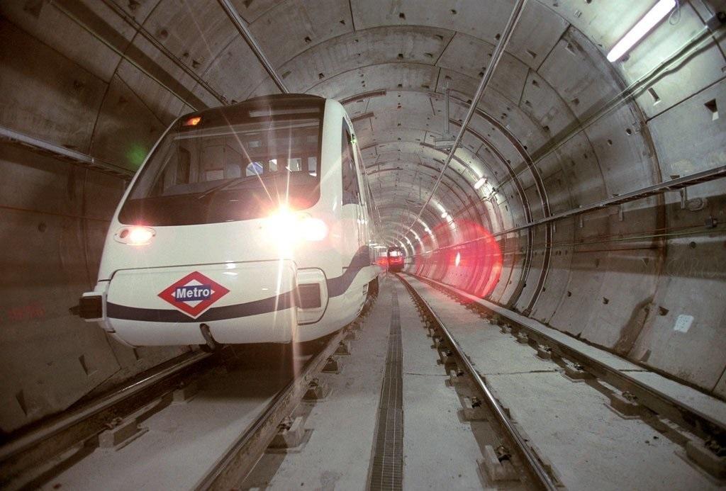 Uno de los trenes de Metro de Madrid,