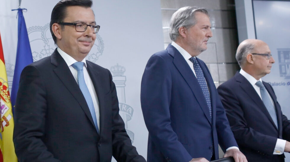 Los ministros Escolano, Méndez de Vigo y Montoro