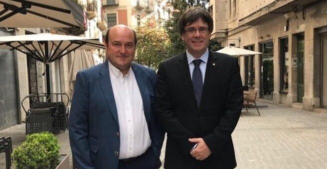 Andoni Ortuzar y Carles Puigdemont en una imagen de archivo