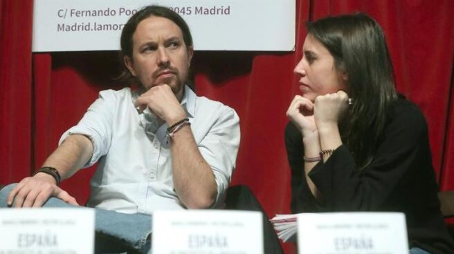 Pablo Iglesias e Irene Montero, en la presentación de un libro la pasada semana en Madrid.