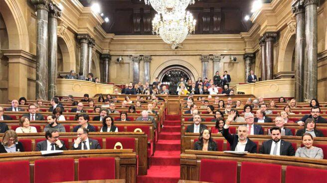 Pleno del Parlament de Cataluña.