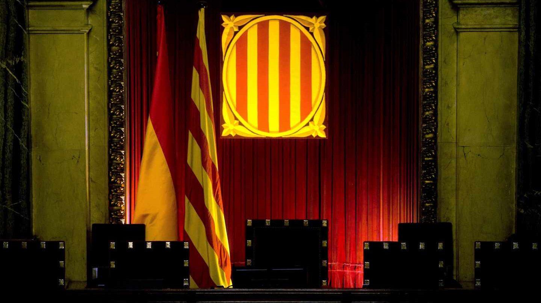 Sala de plenos del Parlament de Cataluña.
