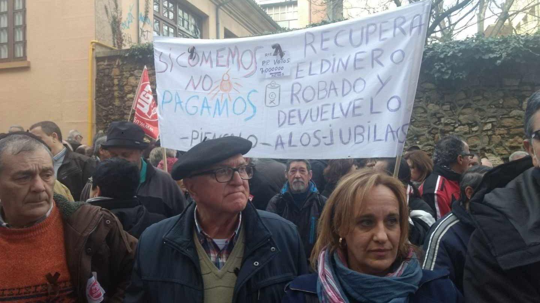 Manifestación de pensionistas en Oviedo.