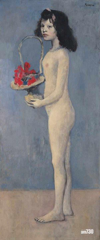 'Chica joven con una cesta de flores' de Picasso.