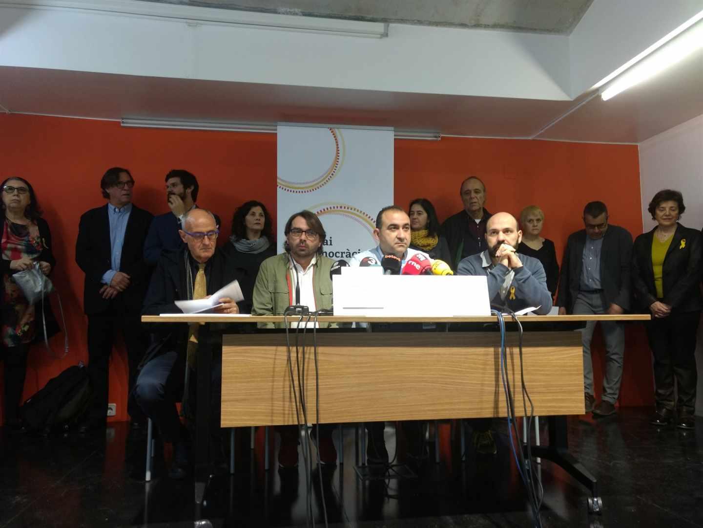 presentación este martes de la plataforma Espai Democràcia i Convivència