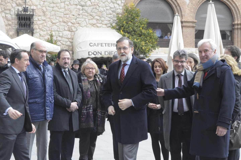 El presidente del Gobierno, Mariano Rajoy, presenta en Teruel el plan de extensión de la banda ancha.