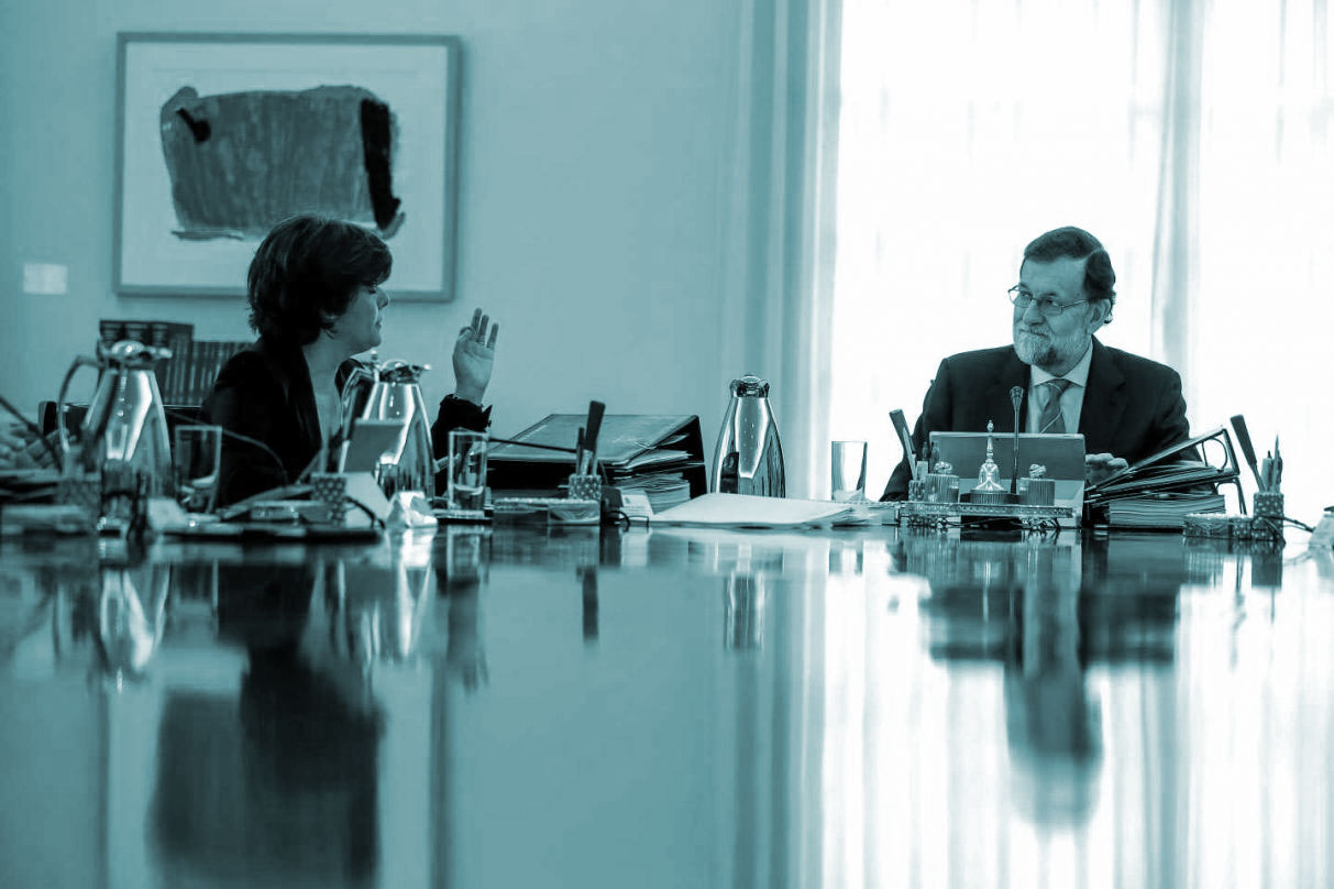 Soraya Sáenz de Santamaría y Mariano Rajoy.
