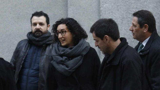 Marta Rovira, cuando acudió el pasado 19 de febrero a declarar en el Tribunal Supremo.