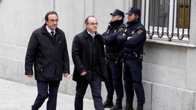 Josep Rull y Jordi Turull, a su llegada al Tribunal Supremo.