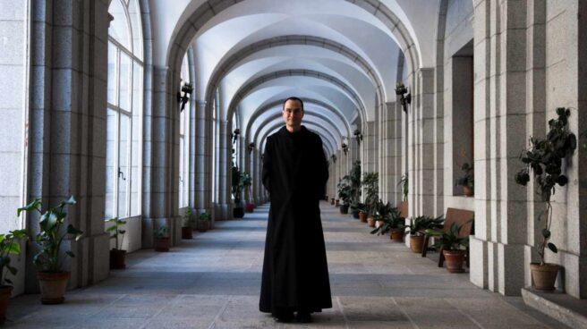 Santiago Cantera, prior del monasterio del Valle de los Caídos, el pasado lunes tras la entrevista con 'El Independiente'.