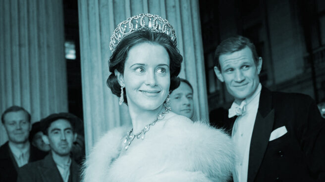 Claire Foy en la serie The Queen, producida por Netflix.