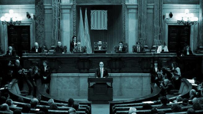 Jordi Turull, en el pleno de investidura en el Parlament.