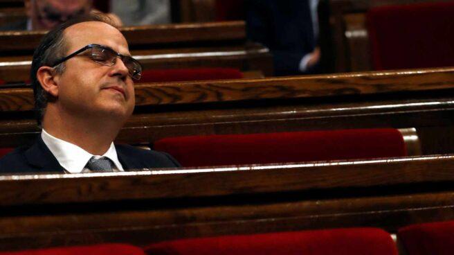 Jordi Turull, durante el pleno de investidura fallido en el Parlament.
