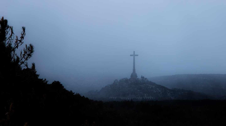 El Valle de los Caídos durante una nevada