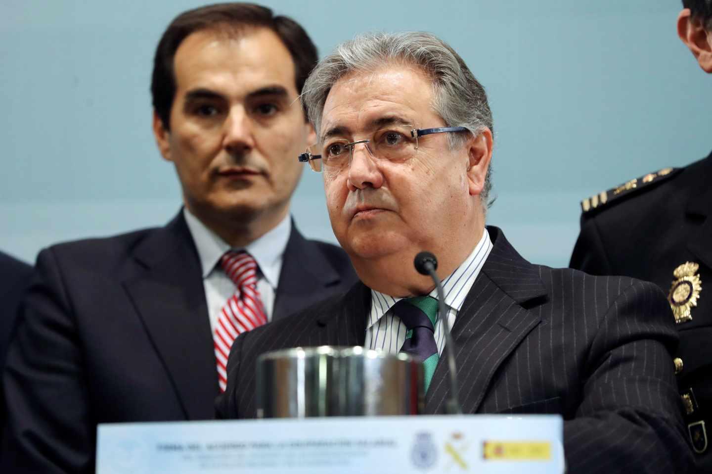 Juan Ignacio Zoido junto al que fue su secretario de Estado de Seguridad, Juan Antonio Nieto.