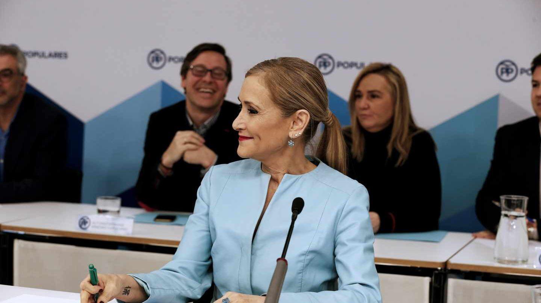 Cristina Cifuentes en la última reunión de la ejecutiva del PP de Madrid