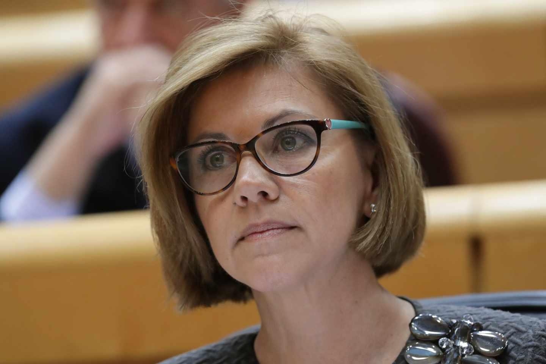 La ministra de Defensa, María Dolores de Cospedal, en el Senado.