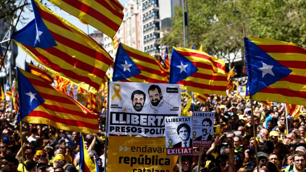Manifestación independentista en Barcelona.