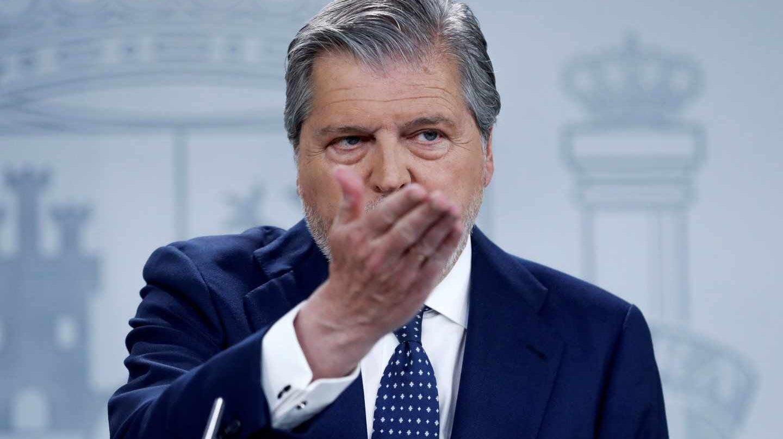 Méndez de Vigo durante el consejo de ministros de este viernes
