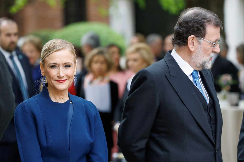 Cifuentes y Rajoy este lunes en la entrega del Pemio Cervantes